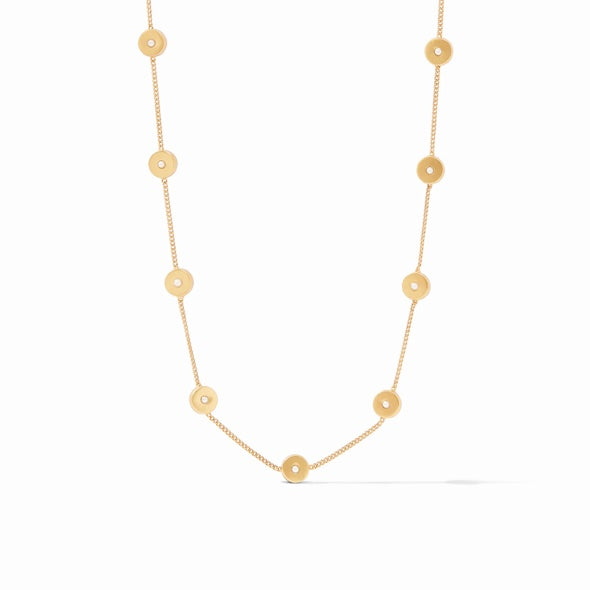 DELICATE POPPY STATION NECKLACE - PEARL