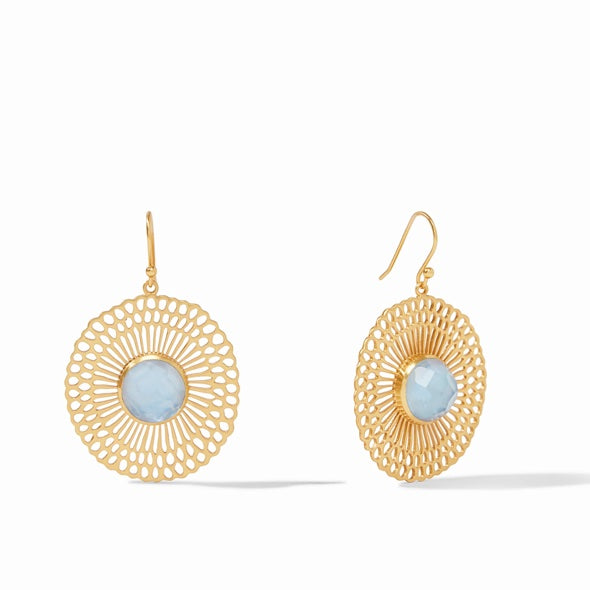 SOLEIL EARRING - IRIDESCENT CHALCEDONY BLUE