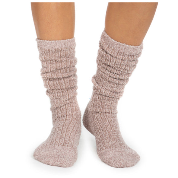 COZY CHIC RIBBED SOCKS-HEATHERED VINTAGE ROSE/BALLET PINK