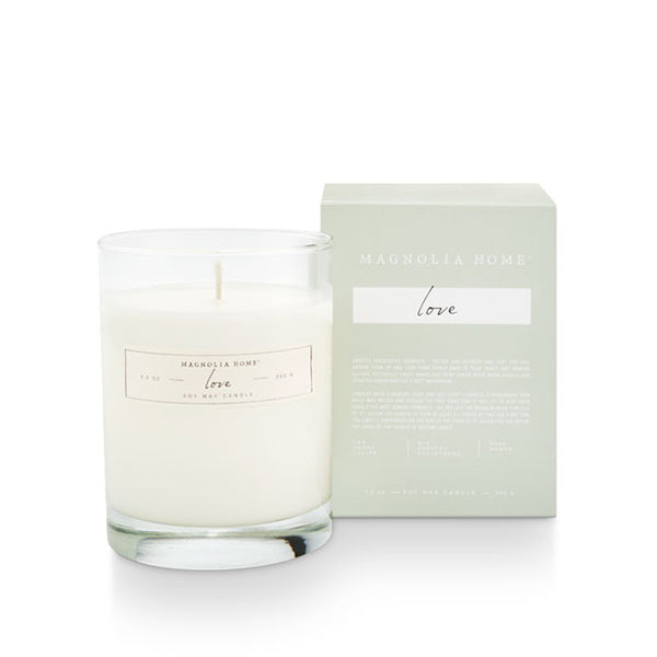 MAGNOLIA HOME LOVE BOXED GLASS CANDLE
