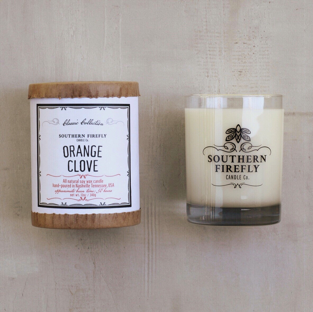 ORANGE CLOVE LARGE CANDLE