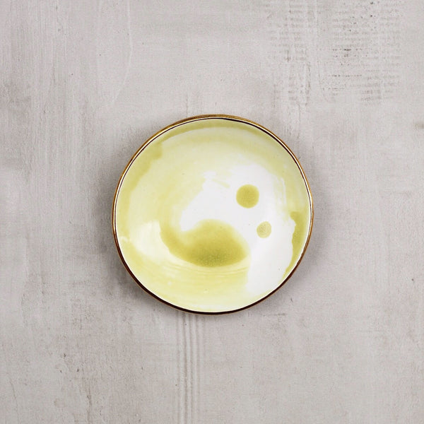 LIME WATERCOLOR RING DISH