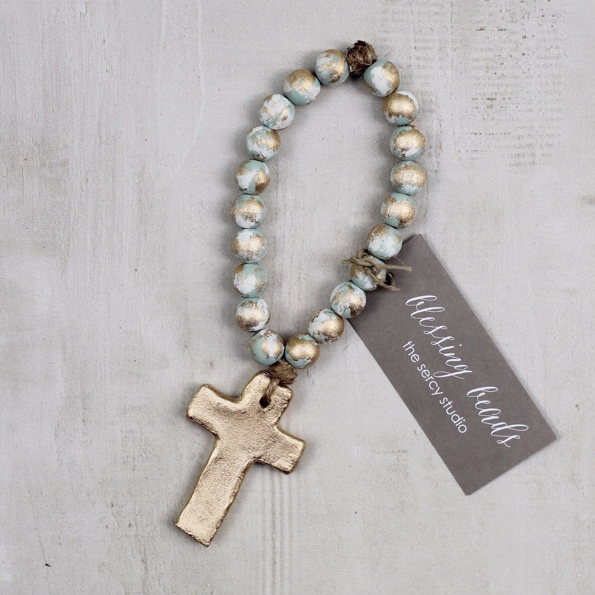TURQUOISE TINY BLESSING BEADS