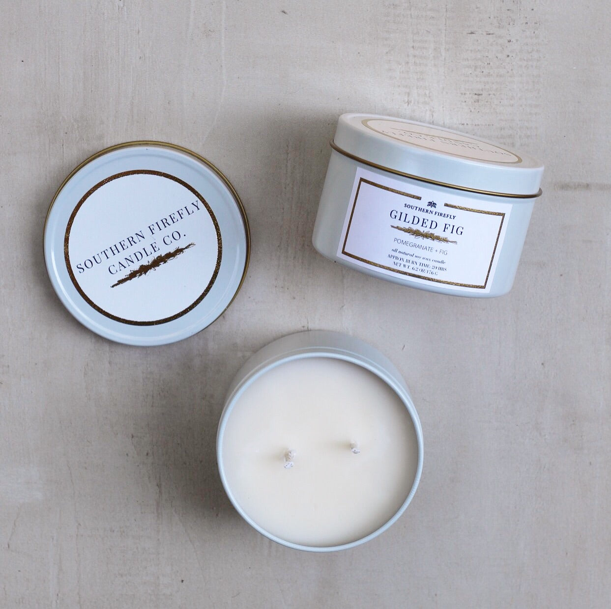 GILDED FIG SMALL CANDLE
