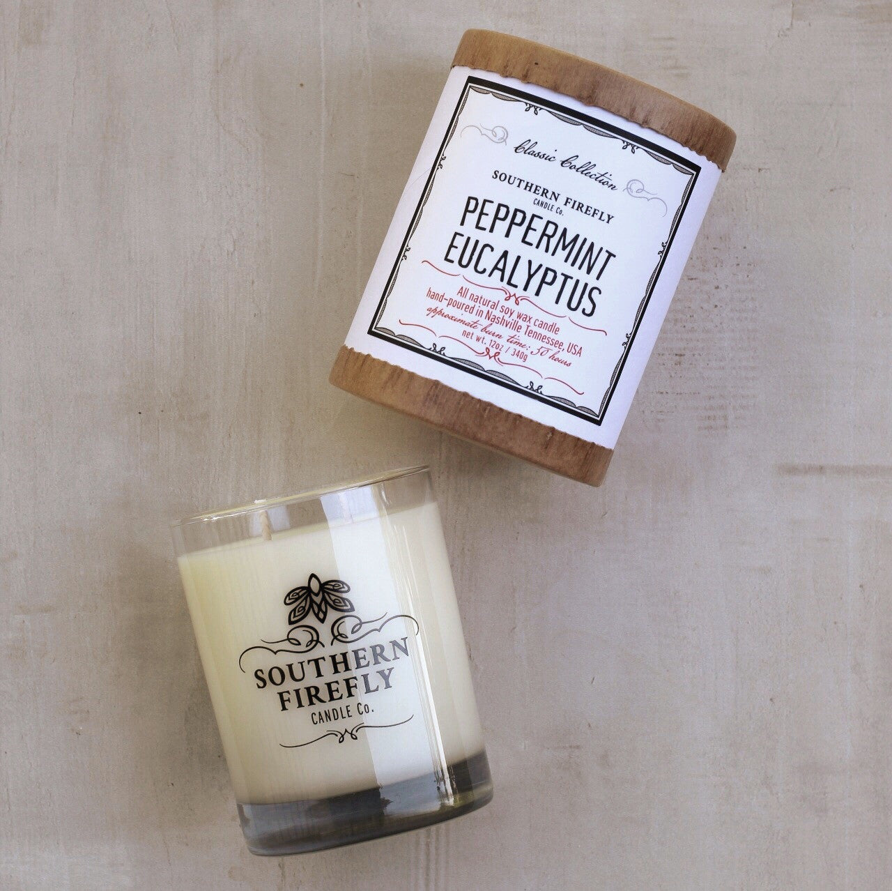 PEPPERMINT EUCALYPTUS LARGE CANDLE