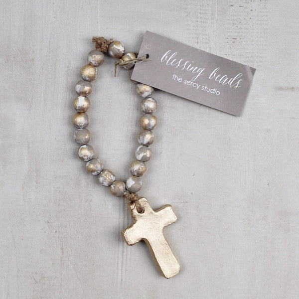 GRAY TINY BLESSING BEADS