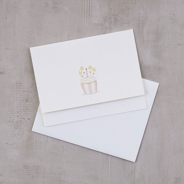 SPANGLED CUPCAKE NOTE CARD