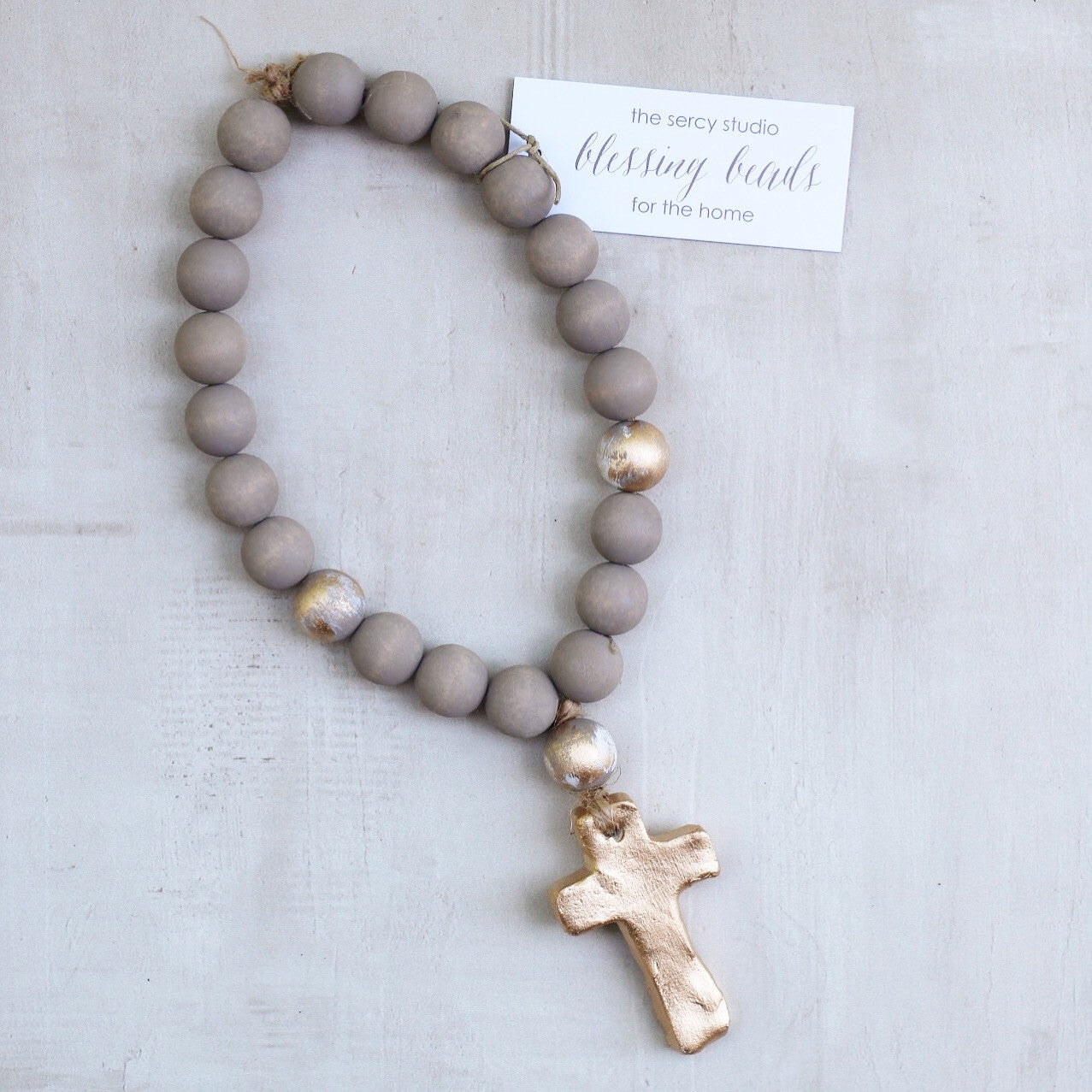 GRAY SMALL BLESSING BEADS
