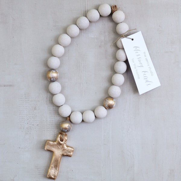 WHITE/GRAY SMALL BLESSING BEADS