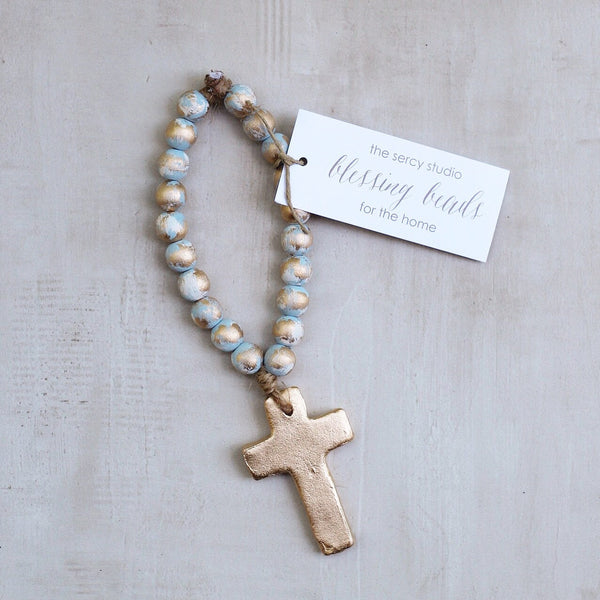 BLUE TINY BLESSING BEADS