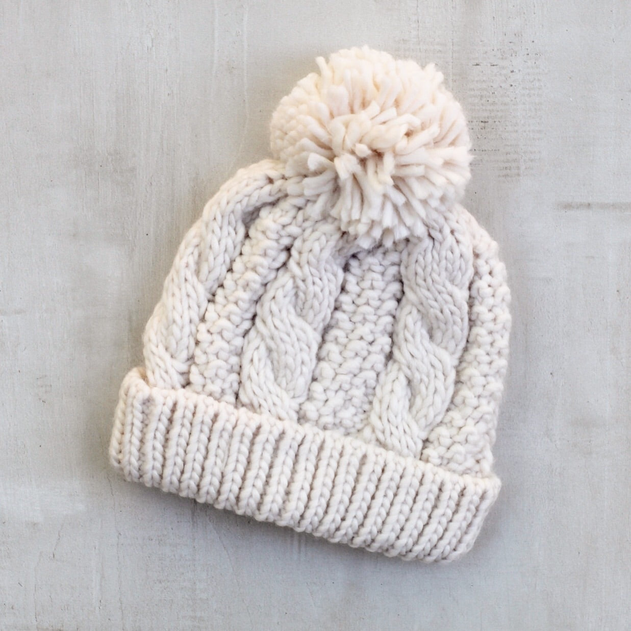 CABLE BEANIE - NATURAL
