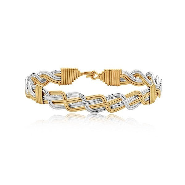 THE WOVEN TOGETHER- GOLD AND SILVER