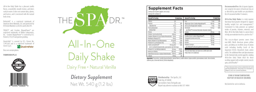 The Spa Dr.™ All-In-One Daily Shake