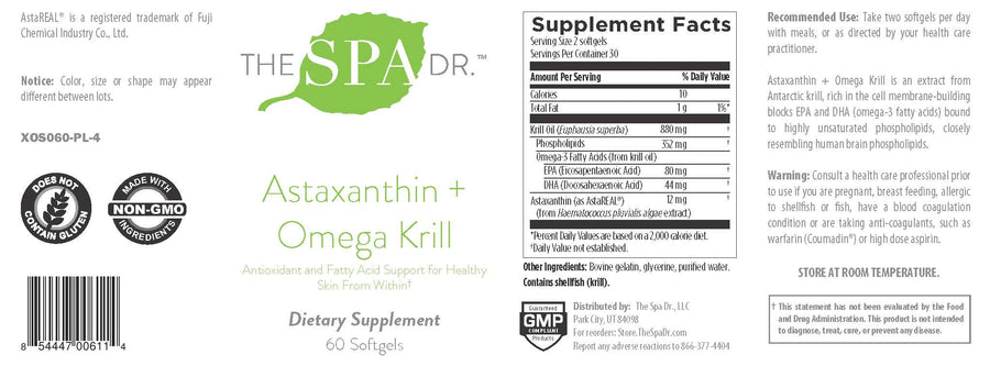 The Spa Dr.™ Astaxanthin + Omega Krill 60 Capsules