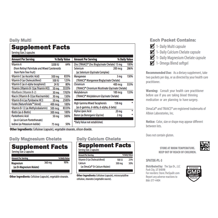 The Spa Dr.™ Daily Nutrients Packets