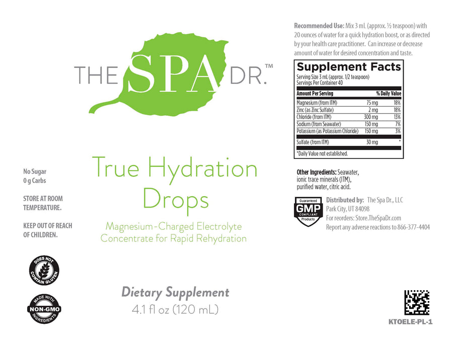 The Spa Dr.® True Hydration Drops + Insulated Water Bottle