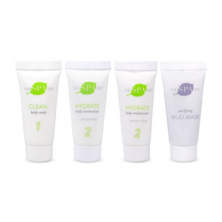Body Essentials + Purifying Mud Mask Sample Kit
