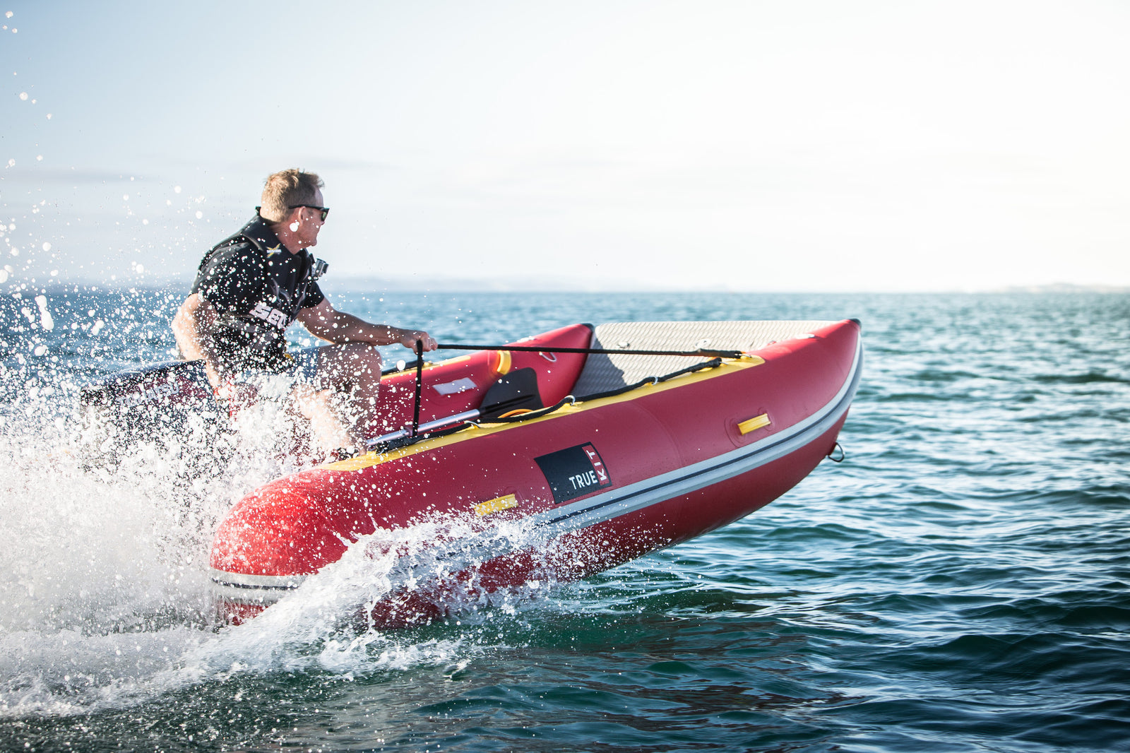 True Kit Discovery - inflatable catamarans are fast, lightweight and portable