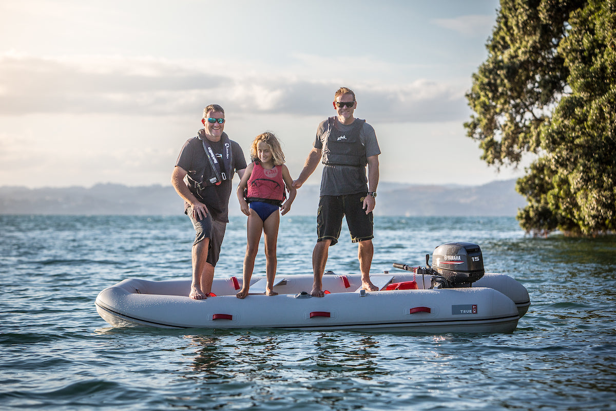 True Kit dinghies are so stable you can stand up in them