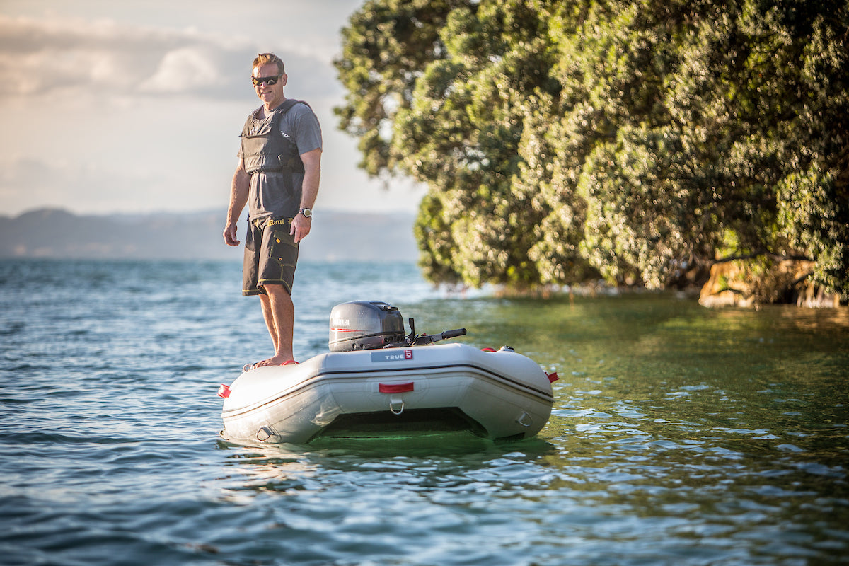 Incredibly stable True Kit tender, you can stand up in these dinghies