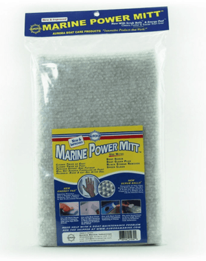 True Kit marine mitt for cleaning your inflatable boat
