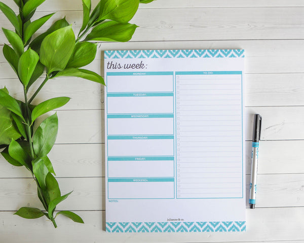 To-Do List and Weekly Planning Pad, 8.5 x 11 Inches