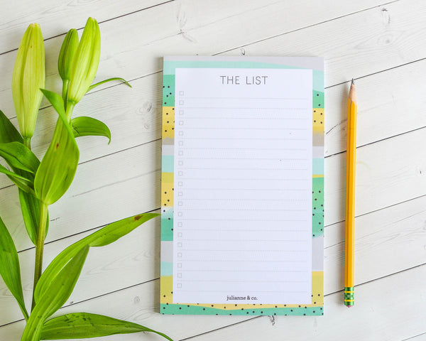 The List- To-do List Notepad or Grocery List Notepad