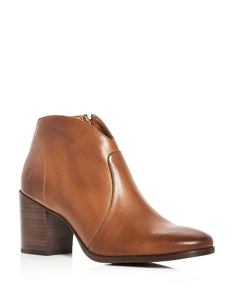 Nora Zip Short Bootie in Nutmeg