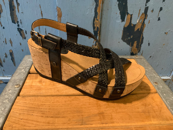 Bussola Fida Braided Sandal in black