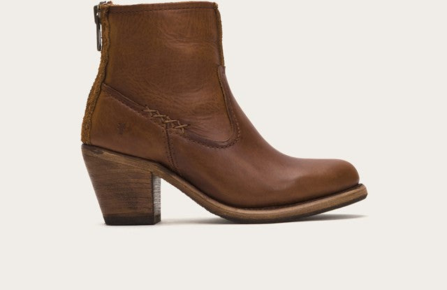 Leslie Artisian Short Bootie in Cognac - If The Shoe Fits