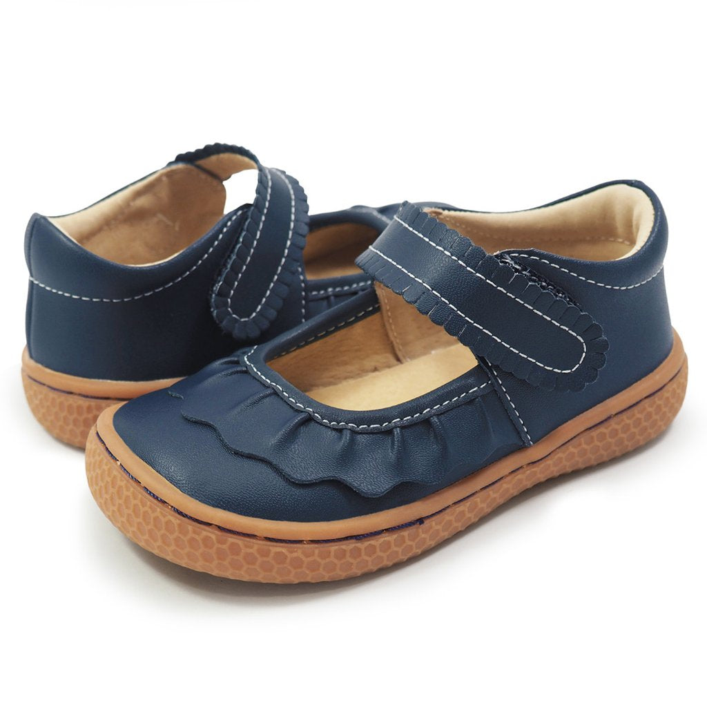 Ruche Mary Jane in Navy