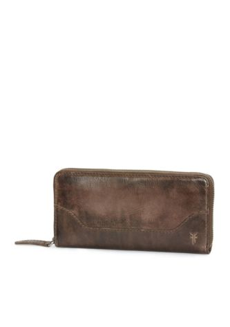 Melissa L Zip Wallet in Slate