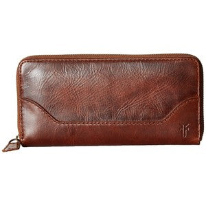 Melissa Zip Wallet in Cognac