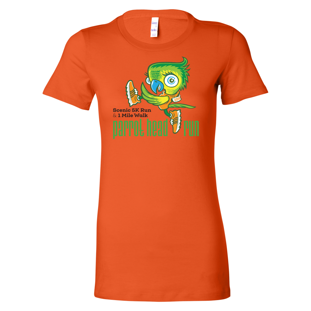 Parrot Head Run 2019 Short Sleeve Women's T-Shirt Colors