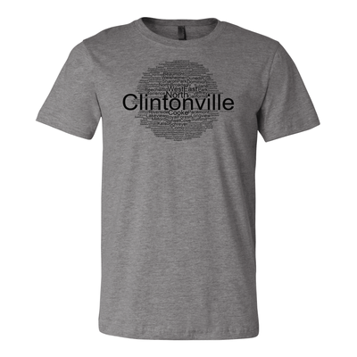 Clintonville Word Cloud Tee