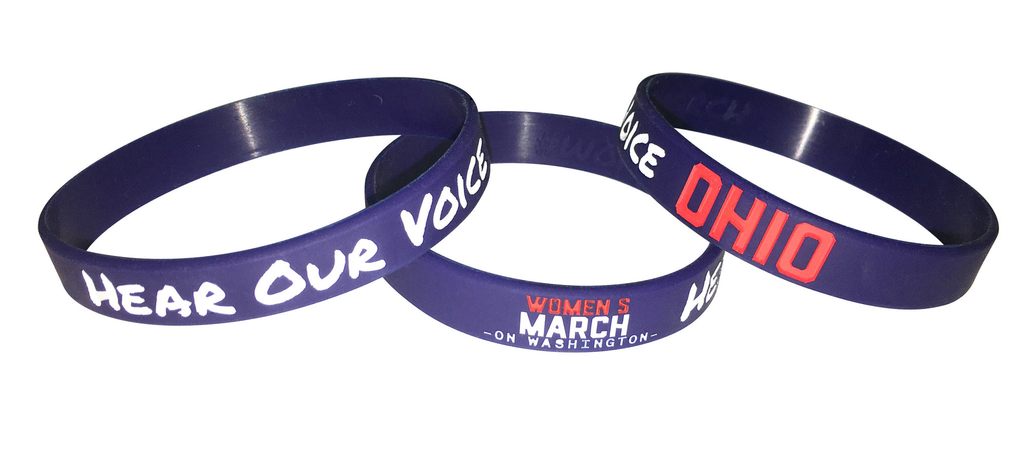 Ohio Women's March Wristbands