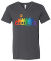 Official Stonewall 2018 Columbus Skyline Dark Grey V-Neck Tee