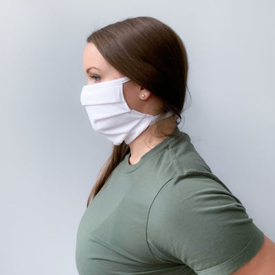 Adjustable Tie 100% Cotton Facemask (Pack of 5) - IN STOCK!