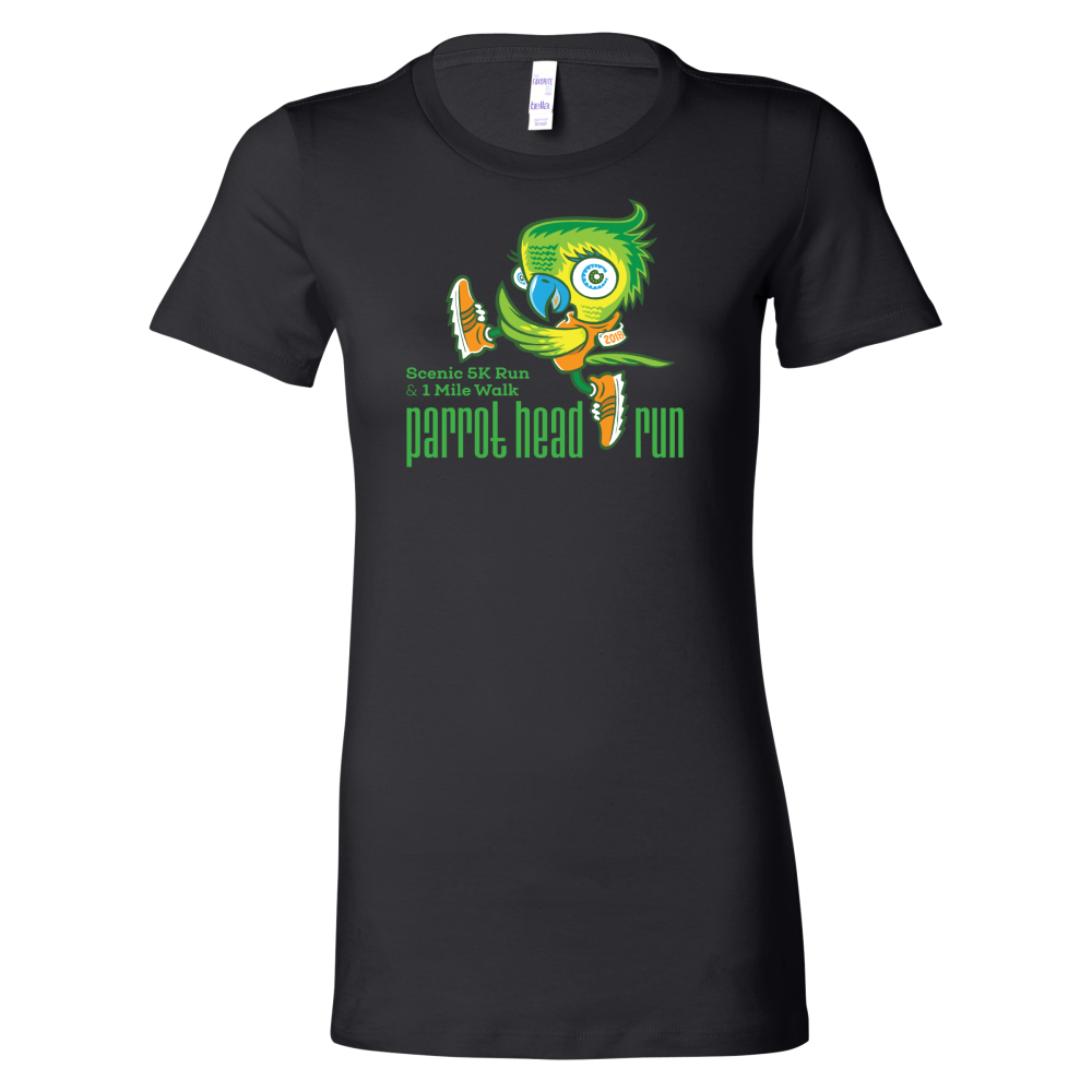 Parrot Head Run 2019 Short Sleeve Women's T-Shirt Black