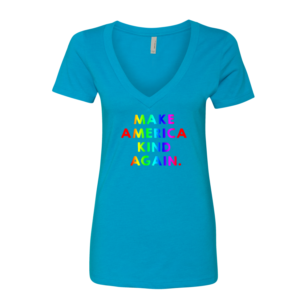 Make America Kind Again™ (Rainbow) Women's V-Neck