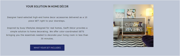 Swift decor homepage