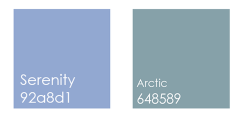 pantone serenity and artic colors