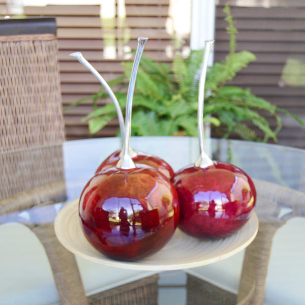 Artificial Faux Cherry Fruit Decor Figurine
