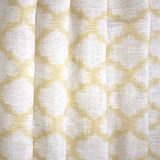 Bold gold Moroccan pattern with an Ikat print Curtain Set by Swift Decor