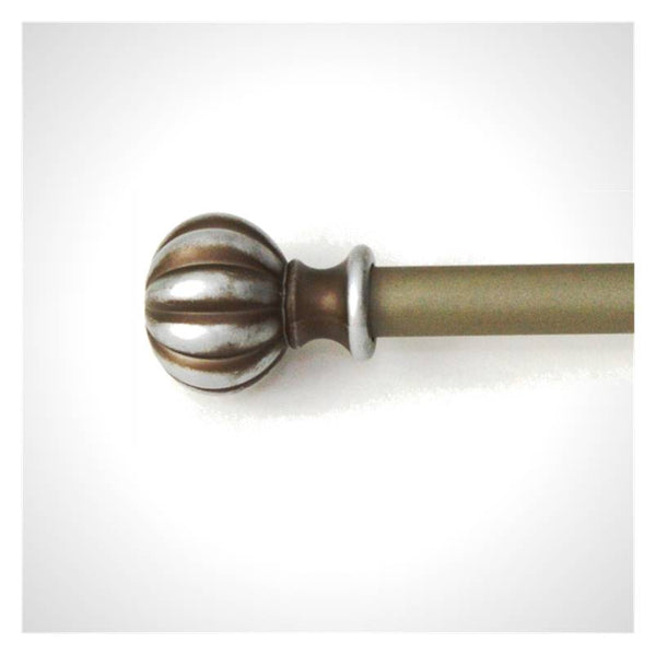 Aged Pewter Patina Finish adjustable Curtain Rod