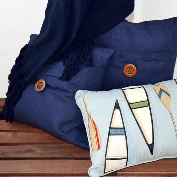 Casual Navy Throw and Pillows Set by Swift Decor