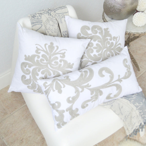 Classic Grey Throw and Pillow Set by Swift Decor
