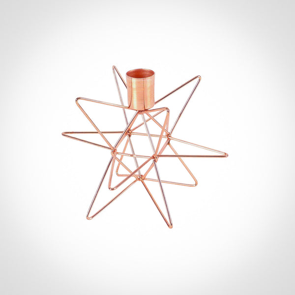 12 point Star Copper Candle Holder by Swift Decor