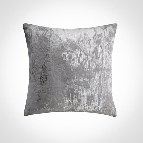 Abstract embroidered grey pillow jacquard fabric by Swift Decor