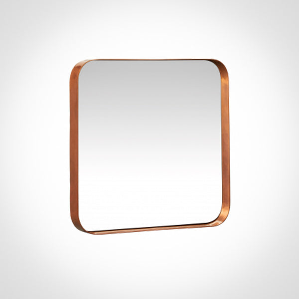Copper frame square mirror by Swift Decor